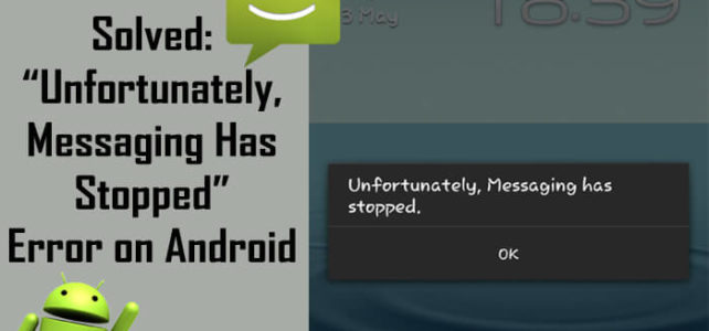 fix Unfortunately Messages Has Stopped   Android Data