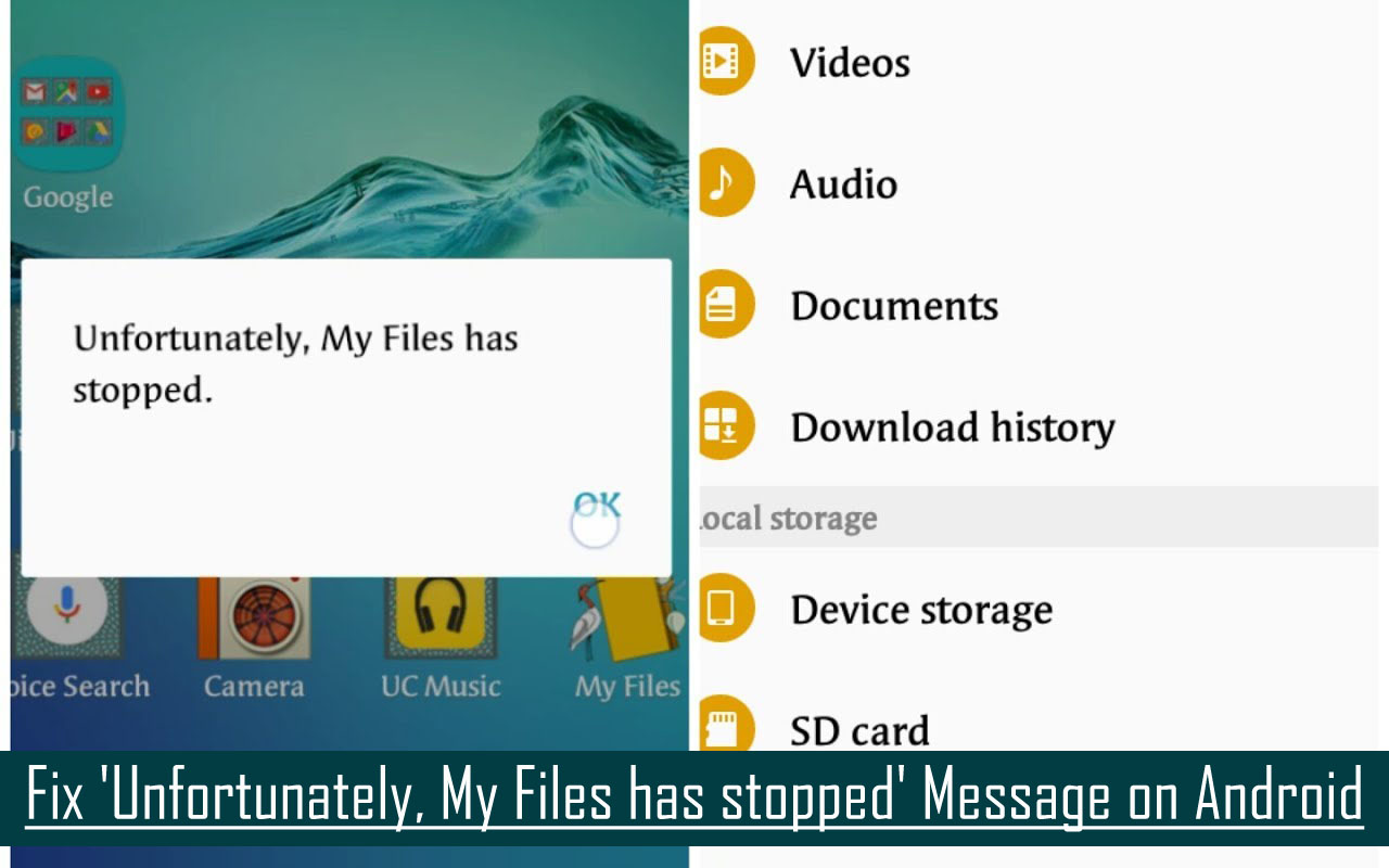 Fix 'Unfortunately, My Files has stopped' Message on Android