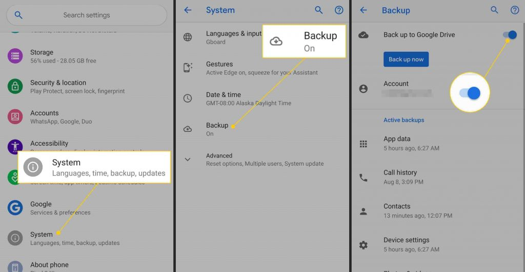 Backup and Restore Apps