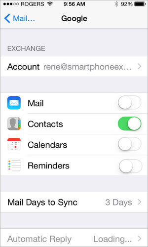 Transfer Android Contacts To iPhone Using Google Account 4